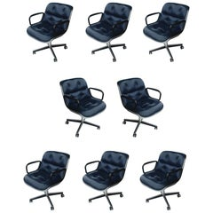 1 Navy Blue Knoll Pollock Chair 8 Available