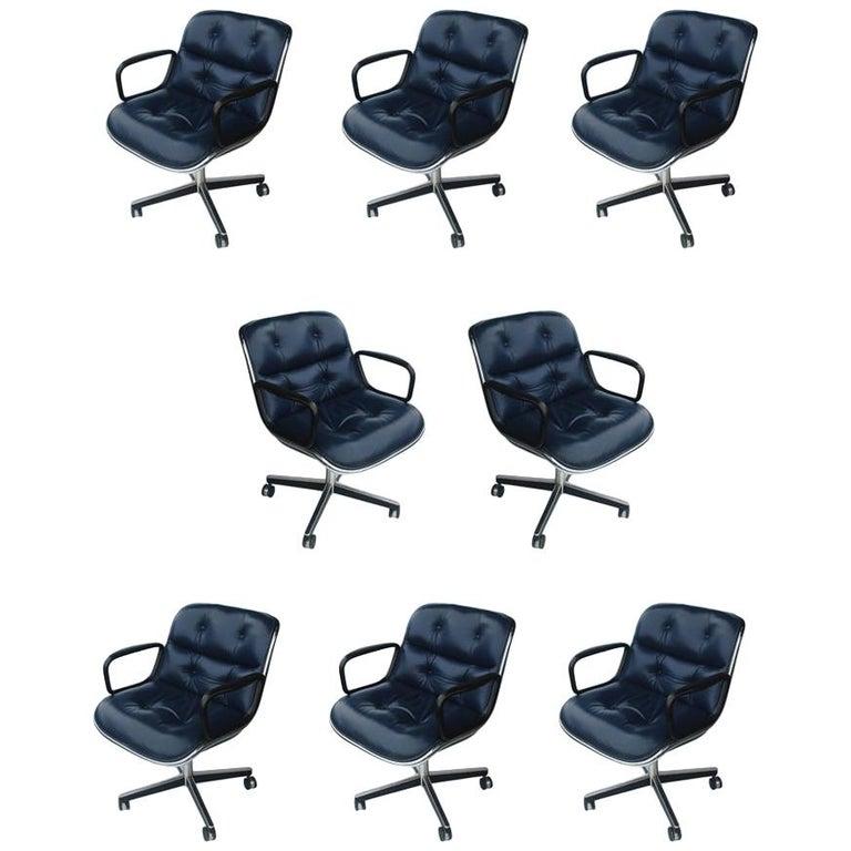1 Navy Blue Knoll Pollock Chair 8 Available For Sale