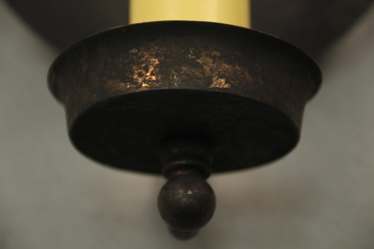 1 of 10 Monterey Style 1920s Single Sconces In Good Condition For Sale In Pasadena, CA