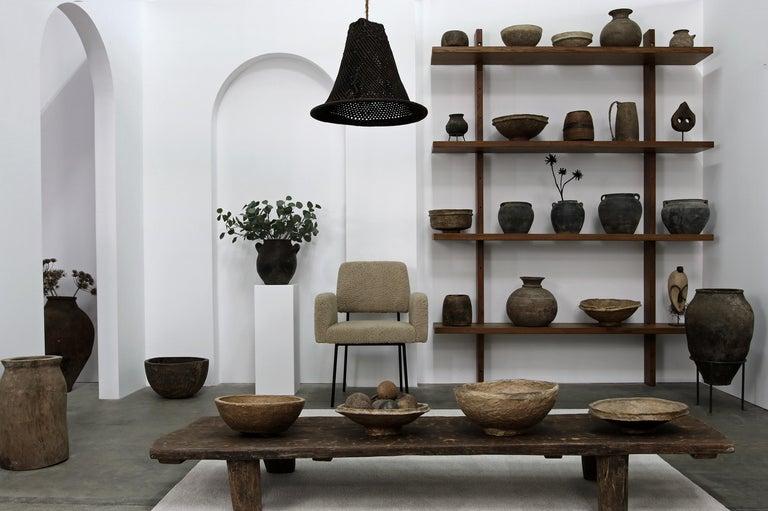 1 of 12 Dining Room Chairs, Armchair Nathan Lindberg Teddy Fur, Metal, Sheepskin For Sale 7