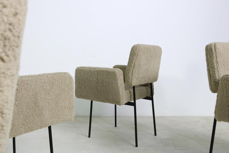 Beautiful modern armchair(s), designed by Nathan Lindberg. Unique design, it's a contemporary chair, with a vintage and Mid-Century Modern look, manufactured in the 'oldschool style' so no modern components, it's like directly from the 1950s-1960s.