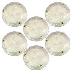 1 of 13 Massive Textured Murano Flush mount / Wall Lights by Hillebrand Two Size