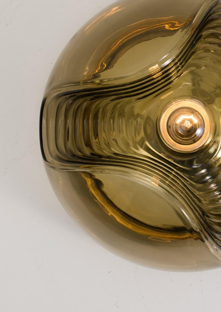 1 of 15 of Koch and Lowy Smoked Glass Wall Sconces/Flush by Peill Putzler For Sale 3