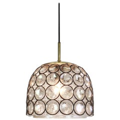 1 of 16 Iron and Clear Glass Pendant Lights by Limburg, Germany, 1960s