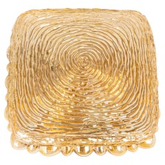 1 of 2 Amber Glass Sconces in Thumbprint Shape, Germany, 1970s