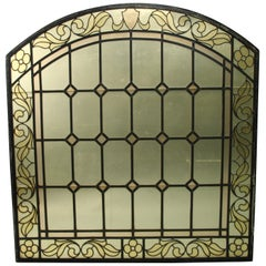 1 of 2 Arched Stained Glass Window