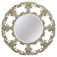 1 of 2 Christopher Guy Gold and Silver Leaf Giltwood Wall Mirrors
