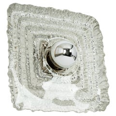 1 of 2 Exclusive Sputnik Crystal Glass Wall Sconce by Peill & Putzler, Germany