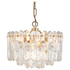 1 of 2 Gilt Brass, Crystal Glass Light Chandelier Palazzo, Kalmar, Austria, 1970