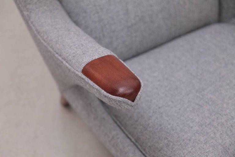 Fabric Hans Wegner AP19 Papa Bear Chair for A.P. Stolen