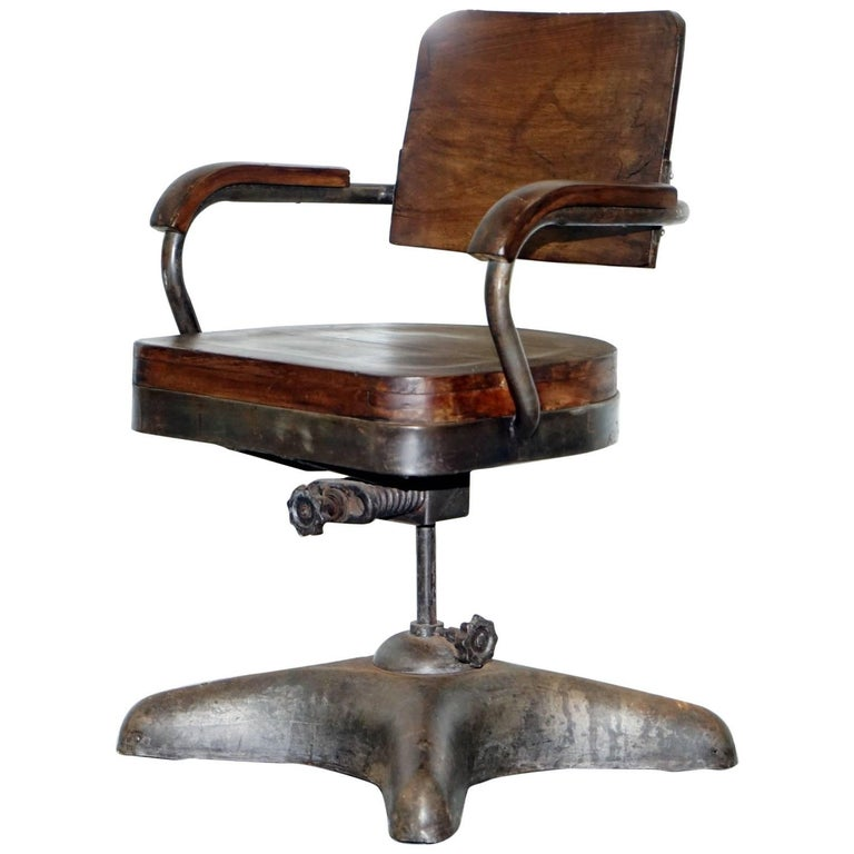 1 Of 2 Industrial Steel Tankers Office Chairs Restored Timber Seriously Cool At 1stdibs