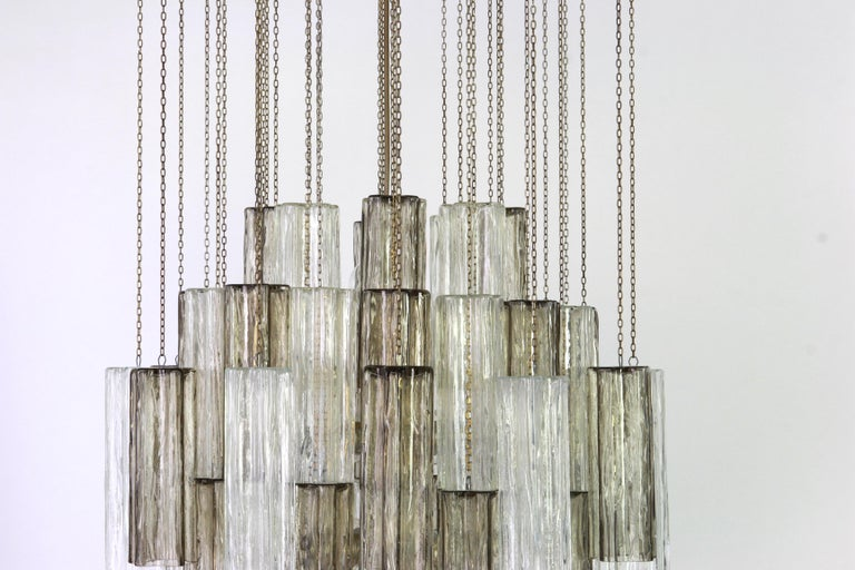 Stunning Murano glass chandelier designed by Venini for Kalmar, 1960s