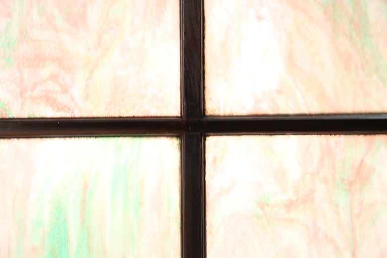 Gothic Revival 1 of 2 Large Turn of the Century Four-Panel Stained Glass For Sale