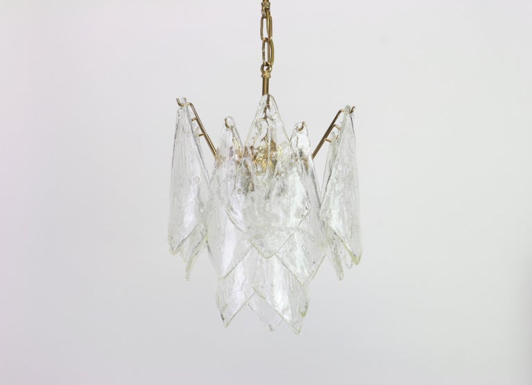 1 of 2 Murano Glass Chandelier Designed by Carlo Nason for Mazzega, 1970s 2