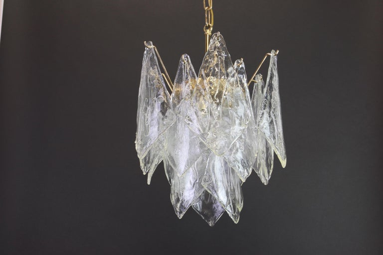 1 of 2 Murano Glass Chandelier Designed by Carlo Nason for Mazzega, 1970s 4