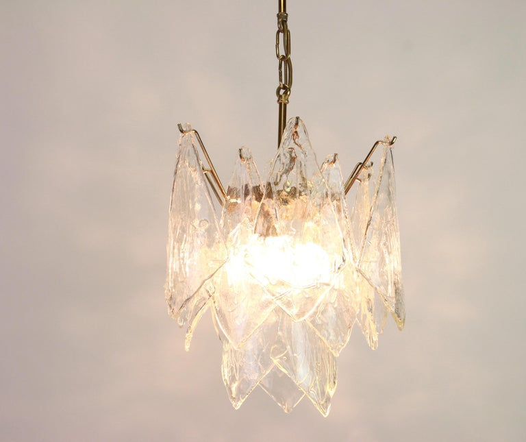 1 of 2 Murano Glass Chandelier Designed by Carlo Nason for Mazzega, 1970s 6