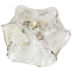 1 of 2 Murano Glass Kalmar Flush Mount Lights, Austria, 1970s