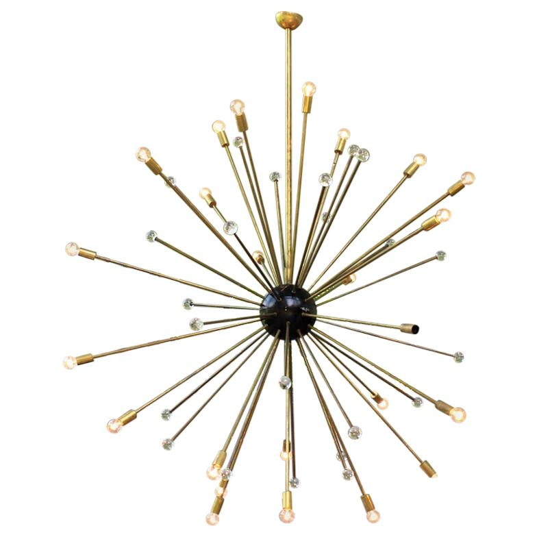 1 of 2 Murano Starburst Sputnik Chandelier, Italy, 1950s