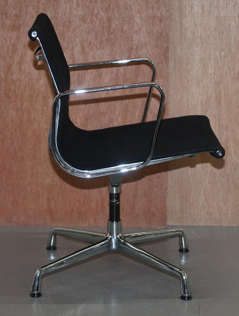 1 of 2 Original Vitra Eames EA 108 Hopsak Swivel Office Chairs For Sale 11