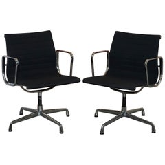 1 of 2 Original Vitra Eames EA 108 Hopsak Swivel Office Chairs