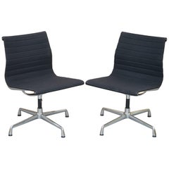 1 of 2 Original Vitra Eames Each EA 105 Hopsak Swivel Office Chairs