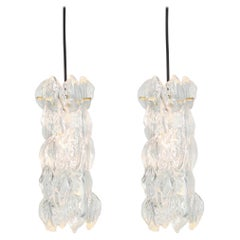 1 of 2 Petite Murano Pendant Lights Designed by Carlo Nason for Kalmar, 1970s