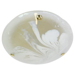 1 of 2 Round Murano Glass Flush Mount by Hillebrand, Germany, 1970s