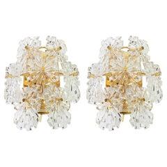 1 of 2 Sets Wonderful Pair of Crystal Sconces by Kinkeldey, Germany, 1970s