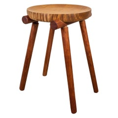 1 of 2 Studio Stools by Michael Rozell in Silk Wood and Bubinga, USA, 2020
