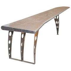 1 of 2 Stunning Aluminium Aeroplane Wing Desks Nice Writing Tables Large Sized