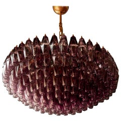 1 of 2 Very Huge Amethyst Murano Glass Chandelier