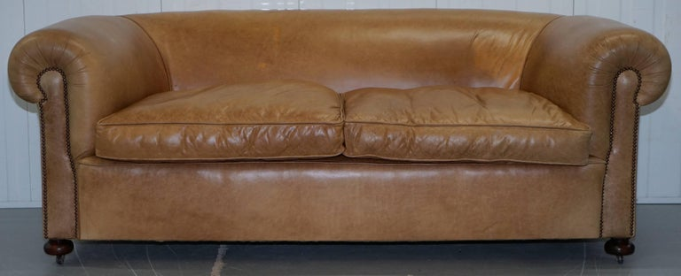 We are delighted to offer for sale 1 of 2 lovely restored vintage Victorian club sofas   This auction is for the second sofa which was made to match the original Victorian one in or around the 1930's, this original sofa looks pretty much identical