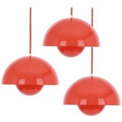 1 of 3 Flowerpot Pendant Lights Designed by Vernar Panton Original from the 1960