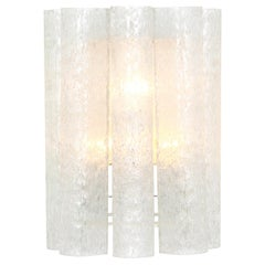 1 of 3 Large Murano Glass Wall Sconces by Doria, Germany, 1960s