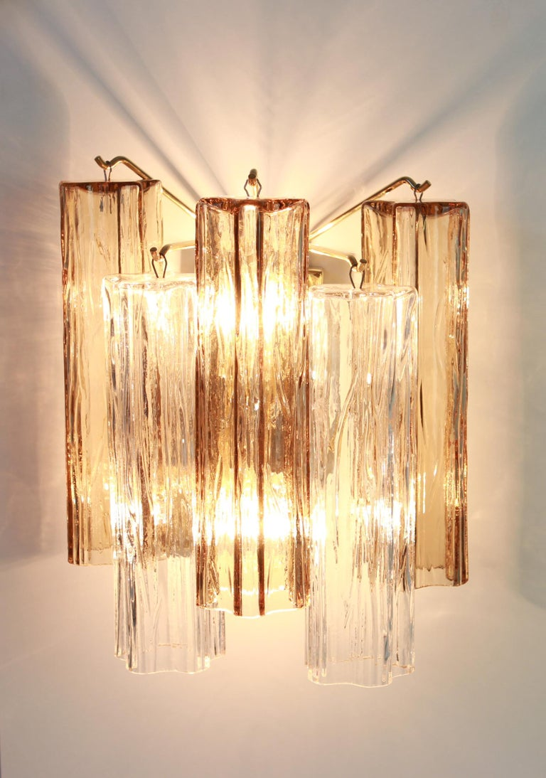 Mid-20th Century 1 of 3 Pairs of Large Kalmar Sconces Wall Lights, Austria, 1960s For Sale