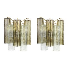 1 of 3 Pairs of Large Kalmar Sconces Wall Lights, Austria, 1960s
