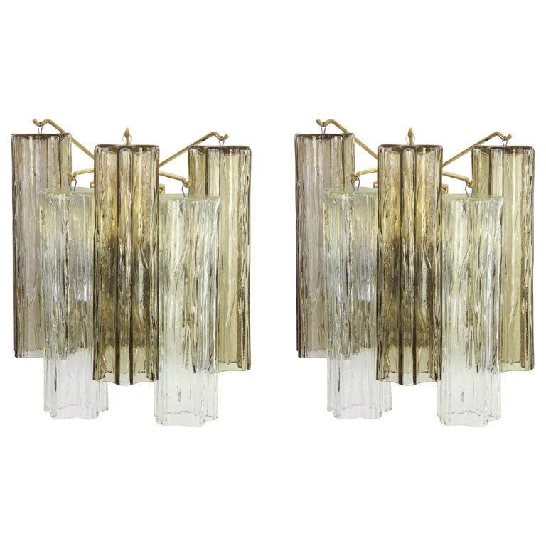 1 of 3 Pairs of Large Kalmar Sconces Wall Lights, Austria, 1960s For Sale