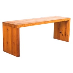 1 of 4 Benches Fir Wood Raffaello Biagetti, Italy Midcentury