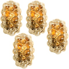 1 of 4 Helena Tynell Amber Bubble Wall Sconces, 1960s
