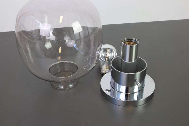 Smoked Glass 1 of 4 Midcentury Limburg Ceiling or Wall Lamp in Ball Shape, Germany, 1970s For Sale
