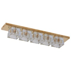 1 von 4 Sciolari Stil Messing und Muranoglas Wandlampen