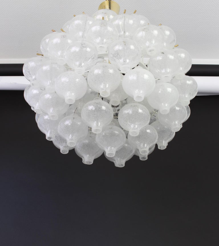 Murano Glass 1 of 5 Large Tulipan Glass Chandelier by Kalmar, Austria, 1960s For Sale
