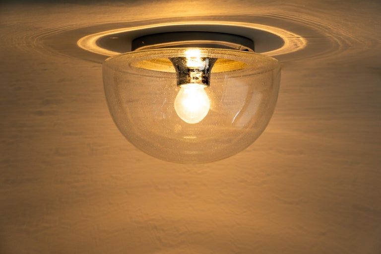 1 of 5 Midcentury Limburg Ceiling or Wall Light, Germany, 1970s In Good Condition For Sale In Aachen, DE