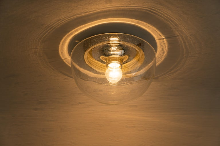 Late 20th Century 1 of 5 Midcentury Limburg Ceiling or Wall Light, Germany, 1970s For Sale
