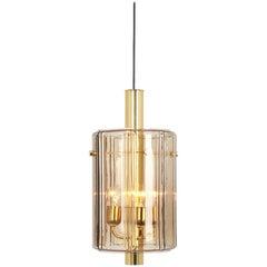 1 of 3 Large Lantern Form Pendant Glass Shade by Limburg, Germany, 1960s