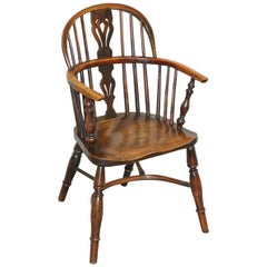 1 of 6 Solid Elm Windsor Armchairs circa 1860 English Countryhouse Furniture