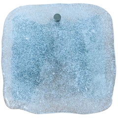 1 of 7 Frosted Square Ice Glass Wall Lamp by Kalmar, Austria, 1960s