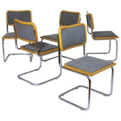 1 of 8 Grey Cesca Chairs by Marcel Breuer 1990s Made in Italy