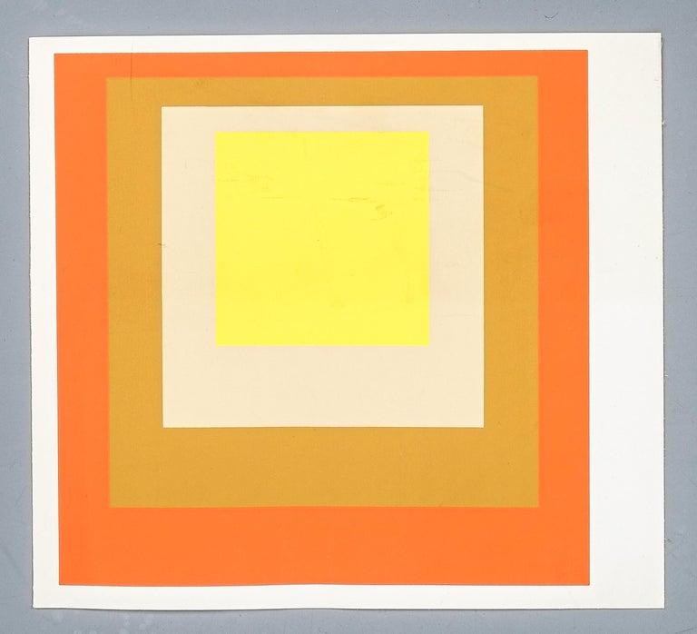 1 of 9 Screen-Prints Serigraph after Josef Albers, 1977 3