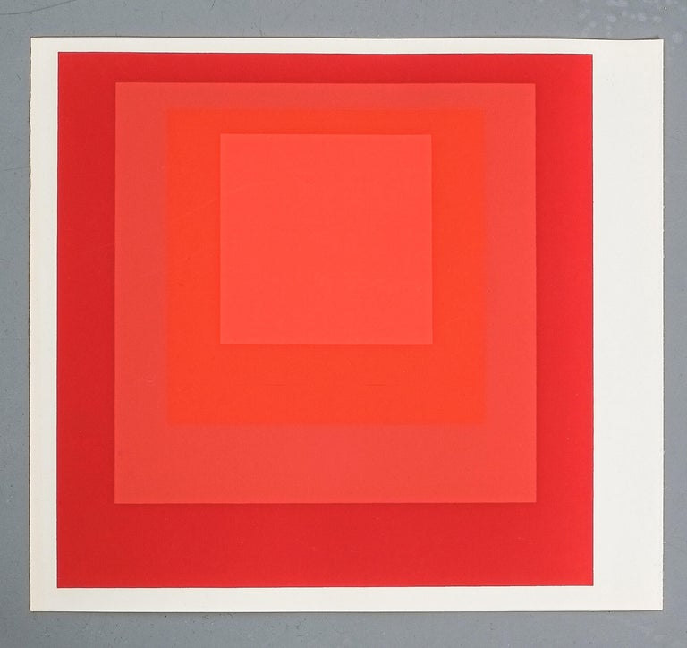 Mid-Century Modern 1 of 9 Screen-Prints Serigraph after Josef Albers, 1977